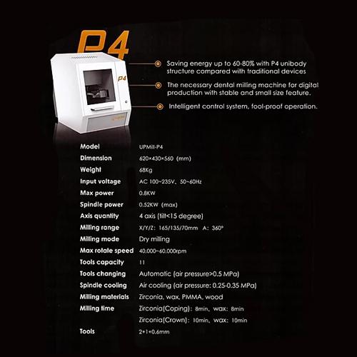 Specificatii Masina de Frezat Up3D UpMill P4