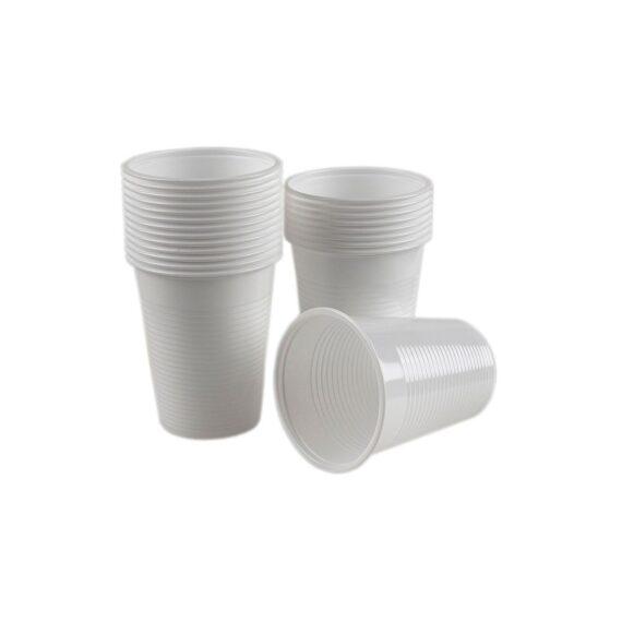 pahare-plastic-albe-200-ml-100-buc